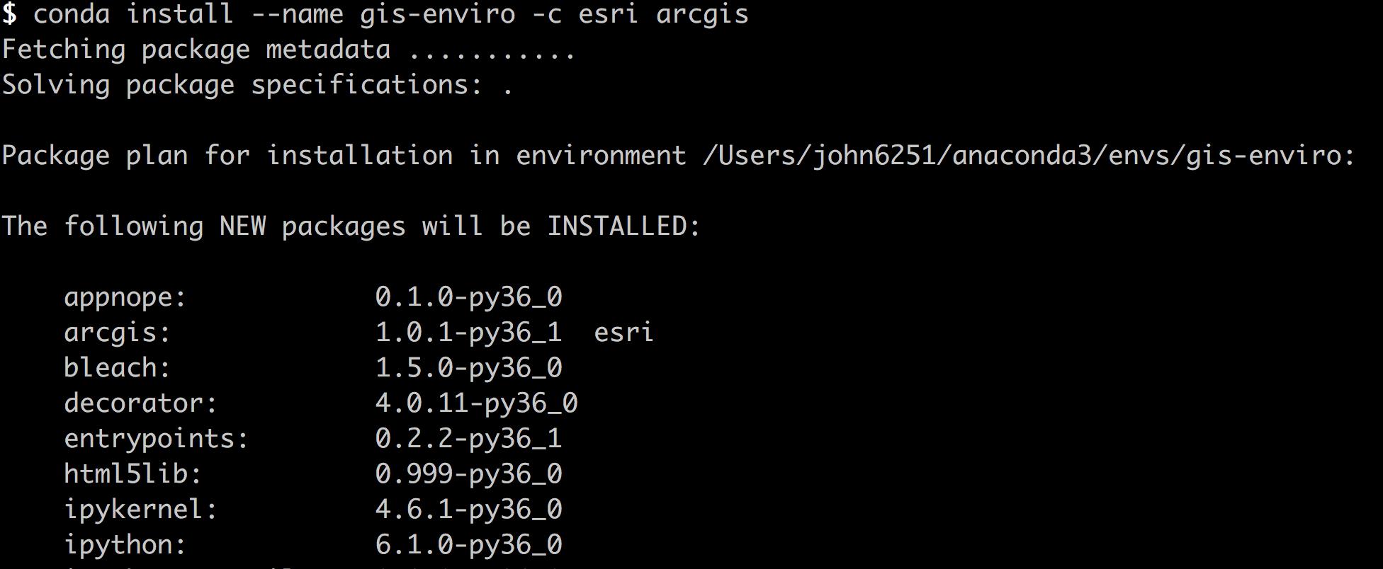 Setting up an ArcGIS API for Python development environment
